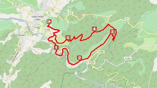 Le vallon de Tiourre depuis Vallon-Pont
