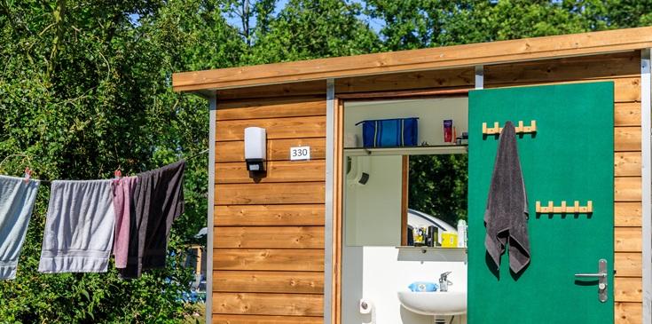 Camping met privé sanitair in Brabant