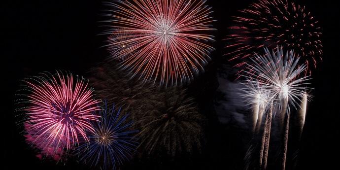 Feuerwerk am de Schotsman