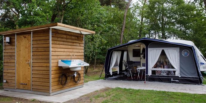 Camping met privé sanitair op de Veluwe