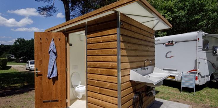Camping met privé sanitair in Friesland